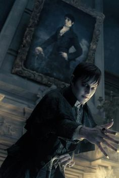 Johnny Depp in Dark Shadows...not sure what I think about this Burton creation. I started to watch the original Dark Shadows and isn't wasn't funny but serious. :/