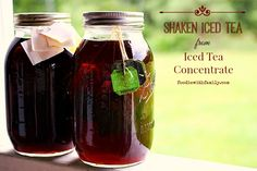 Shaken Iced Tea and Iced Tea Concentrate from foodiewithfamily.com