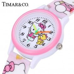 Cheap montre enfant, Buy Quality montre relogio directly from China montre cute Suppliers: Hello Kitty Kids Watches Girls Children Pink Dress Wrist Watch Cute Child Cartoon Silicone Baby Clock Saat Relogio Montre Enfant