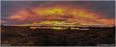 Sunset Explosion Myvatn iphone6+