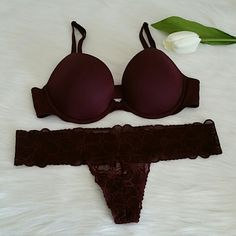 New with tag,Vs PINK Bra + Panty set . Beautiful bra and panty set New never worn.  Bra size 35 B,Panty size S Smoke and pet free home. PINK Victoria's Secret Intimates & Sleepwear