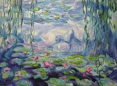 Nympheas Apres Monet Painting  - Nympheas Apres Monet Fine Art Print
