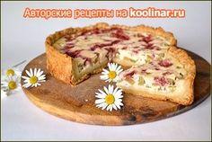 Фото к рецепту: Деревенский заливной пирог с ревенем