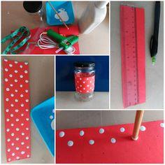 How to decorate a mason jar/Cómo decorar un frasco de cristal