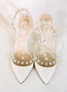 Pin for Later: 23 Gorgeous Ideas For Your Wedding Shoes High-fashion heels Treat yourself to a beautiful designer heel you'll wear again and again. Photo by Karen Hill Photography via Style Me Pretty