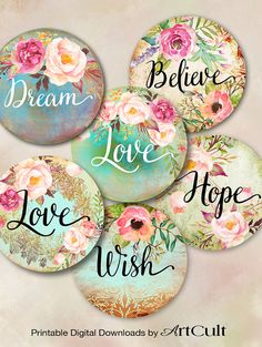 LOVE HOPE DREAM 2.5 images Printable Download for por ArtCult