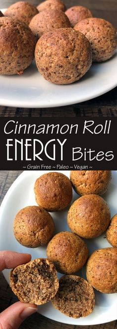 Paleo Friendly Cinnamon Energy Roll Bites (Paleo, Grain Free, Vegan option)