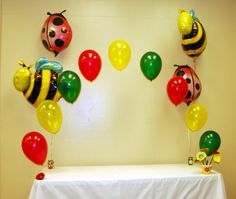 First Birthday Invitation Decorations Butterflies Lady Bugs Bumble Bees