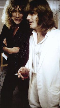 Robert Plant and John Paul Jones