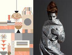 Prachtige stof en geweldig behang te zien in Milaan Design beurs Salone Mobile 2016