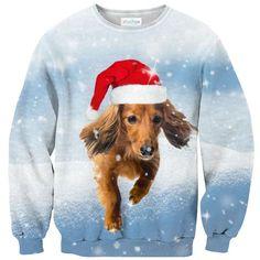 Dachshund Through The Snow Sweater