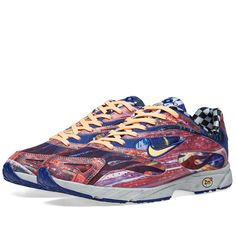 Buy the Nike Zoom Streak Spectrum Plus in Melon Tint & Palest Purple from leading mens fashion retailer END. - only Fast shipping on all latest Nike products Running Back, Hot Heels, Flag Design, Nike Zoom, Pairs, Spectrum, Purple, Sneakers, Style