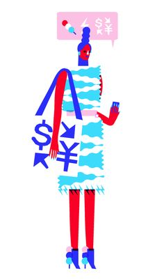 John Lisle-USA- 2014-Digital Illustration  John Lisle's work represents the human form in an abstracted manner. The texture is flat and graphic in form due to his method of computer illustration. The line work is powerful as the figure is made up of multiple geometric shapes. The silhouette is stylistic and is rigid in form. However this is undercut by the bright use of colour used to create a comic feel in many of Lisle's illustrations.