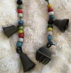4 Antique Engraved Cast Iron Bells Wood Beads Indian Shop door Chimes Prayer | eBay Bohemian Stores, Cast Iron, It Cast, Shop Doors, My Ebay, Wind Chimes, Prayers, Joy, Indian