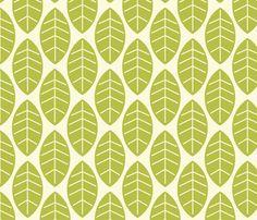 leaves in milk fabric by mytinystar on Spoonflower - custom fabric