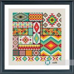 Aztec seamless pattern cross stitch patternmodern pattern