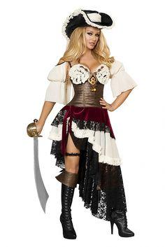 Sexy Piraten Kostüm - Pirate Captain - Kaufen bei dressme24.com