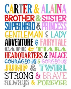 Brother & Sister. Superhero and Princess. by LittleLifeDesigns