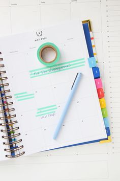 What to do with washi tape. Pencil Shavings Studio washi tape used in my day planner - www.pencilshavingsstudio.com