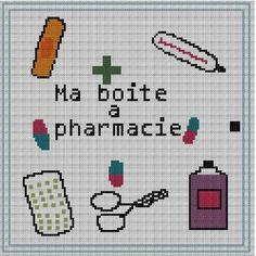 Grille point de croix pdf ma boite à pharmacie