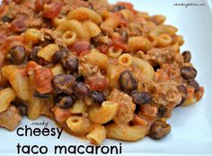 sneaky cheesy taco macaroni