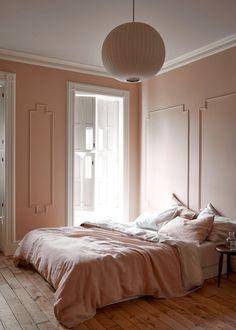 Extraordinary pink bedroom interior design just on miral iva home design Pale Pink Bedrooms, Pink Bedroom Decor, Bedroom Paint Colors, Bedroom Ideas, Bedroom Inspiration, Pink Bedroom Walls, Linen Bedroom, Blush Bedroom, Bedroom Scene