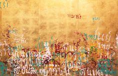 """Saatchi Art Artist Anna Zuber; Painting, """"Graffiti de luxe - Thai edition - Bangkok ( triptych)"""" #art"""