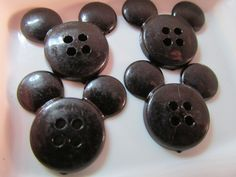 5 Mickey Mouse Buttons- 19x21mm- Scrapbooking- Sewing- Craft Buttons by WNBrunk on Etsy https://www.etsy.com/listing/202373724/5-mickey-mouse-buttons-19x21mm