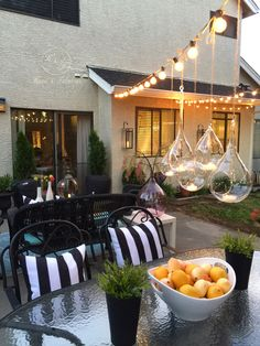 Hanging glass globes make everything look a little more whimsical. I love these teardrop shaped ones I got from HomeGoods! Be sure to get yours and add a little touch of sparkle to your decor! (Sponsored pin)