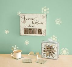 Perfect for gift giving is our printed treasures on the distressed boxes as well as the coasters and design-a-block with your favorite holiday design.  Order yours today at www.mysimplysaiddesigns.com/kraftycam/