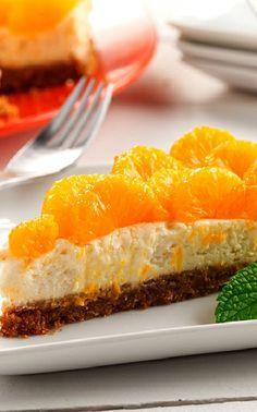 Low FODMAP and Gluten Free Recipe -- Mandarin Cheesecake  ---   (update) No Carb Recipes, Dairy Free Recipes, Cooking Recipes, Diet Recipes, Fodmap Diet, Low Fodmap, Fodmap Foods, Gluten Free Desserts, Us Foods