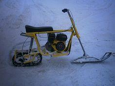 SNOWFLEA MINIBIKE Drift Trike Frame, Snow Toys, Motorcycle Wheels, Mini Motorbike, Snow Vehicles, Homemade Tractor, Electric Bike Kits, Mini Chopper, Snow Machine