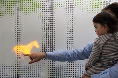 interactive installation at children's hospital by jason bruges studio