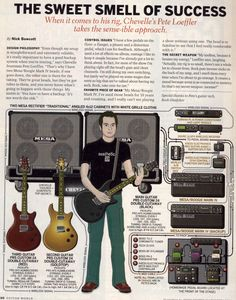 Pete Loeffler (Chevelle) Guitar rig: 2005 Guitar World Guitar Books, Learn Something New Everyday, Guitar Rig, Never Stop Learning, Axe, Rigs, Guitars, Chains, Knowledge