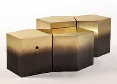 Stéphane Parmentier for Ormond Editions #goldcoffeetable coffee table design #moderncoffeetable modern design #luxurydesign living room . See more at www.coffeeandsidetables.com