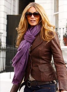 Love the Purple with Brown... great combo..