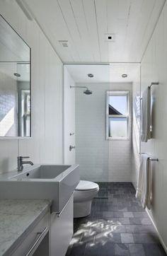 white boards in bathroom