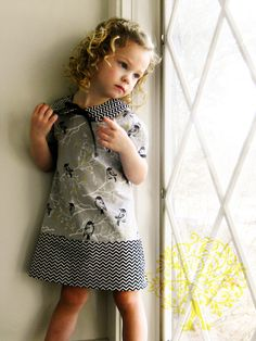 Shaffer Sisters: Insignia Go Go Toddler Dress - Love the black and white!!