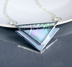 Stained Glass Statement Necklace - ooak. Starting at $1 on Tophatter.com!