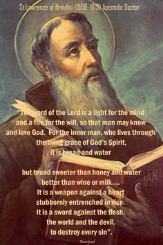 """Quote/s of the Day – 21 July """"The word of God is replete with manifold blessings, since it is, so to speak, a treasure of all goods. It is the source of faith, hope, charity, all virtue, all the gifts of the Holy Spirit, all the beatitudes of the Gospel, all good works, all the rewards of life, all the ....#mypic"""
