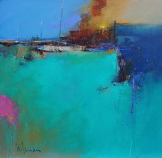 """""""Green Flash Vlll"""" by Neil Walling Oil ~ x Landscape Artwork, Abstract Landscape Painting, Abstract City, Colorful Abstract Art, Acrylic Painting Inspiration, Learn Art, Fantastic Art, Beautiful Paintings, Peter Wileman"""