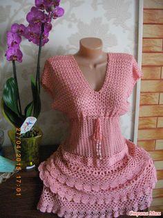 Sidney Artesanato: Vestido de Crochet....