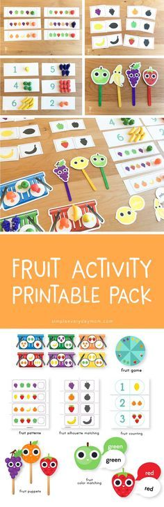 fruit activities for preschool | printable activities for kids | learning | pattern | math game