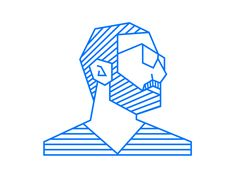 self portrait illustration by Ahmad Nasr - via #designhunt