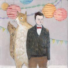 julian's imaginary friend kept him company at parties by amanda blake art, via Flickr