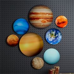 Set of 8 Photorealistic Glass Planet Wall Art Includes 8 Planets in 3 Sizes in Gift Box - Glass Stonewall Kitchen, Great Christmas Gifts, Milky Way, Planets, Two's Company, Wall Art, Glass, Larger, Crafts