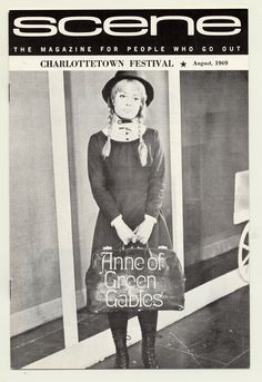 1969 brochure cover, Anne of Green Gables - The Musical™ at Confederation Centre of the Arts.