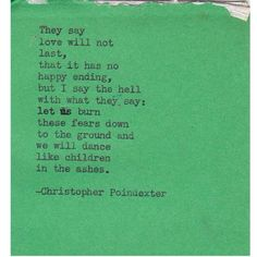 Christopher Poindexter poem 10  by Christopherspoetry on Etsy, $10.00