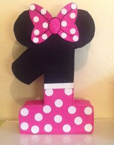 First birthday Minnie mouse pinata. Minnie mouse by aldimyshop