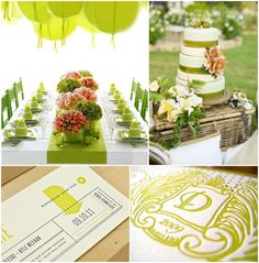 ideas for a Chartreuse wedding